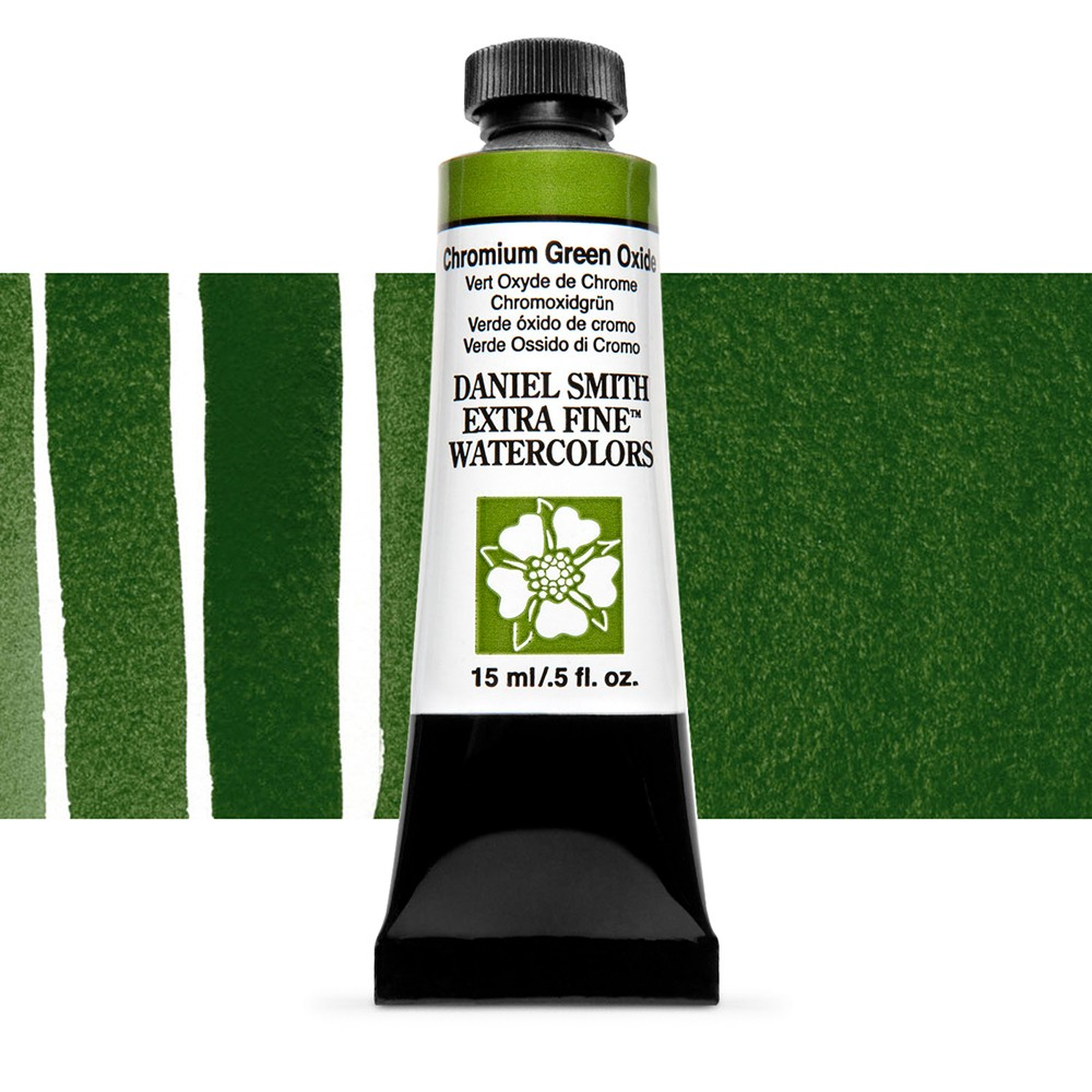 Daniel Smith : Watercolour Paint : 15ml : Chromium Green Oxide : Series 1