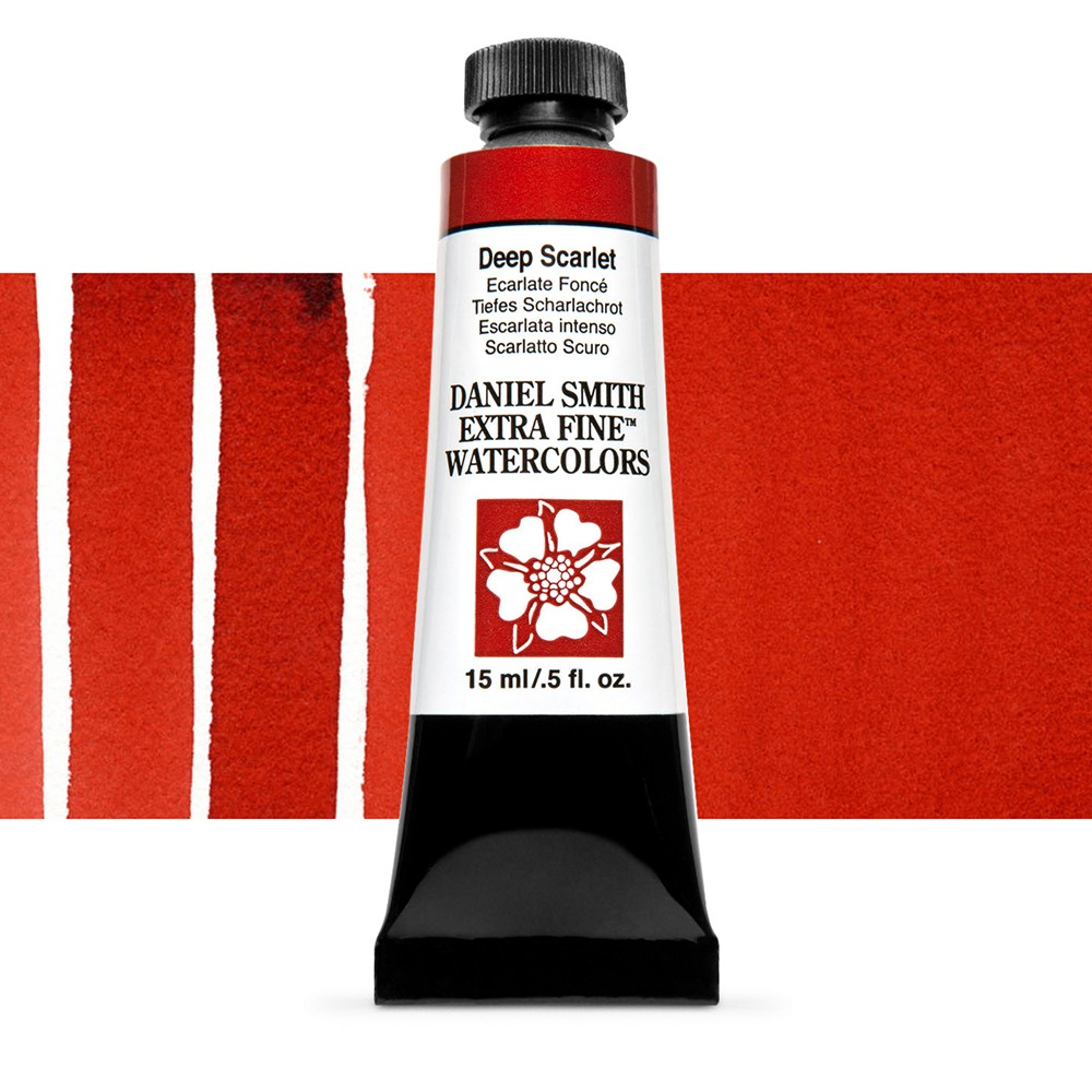 Daniel Smith : Watercolour Paint : 15ml : Deep Scarlet : Series 1