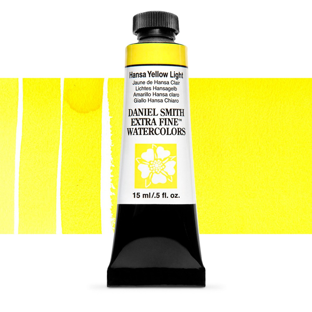 Daniel Smith : Watercolour Paint : 15ml : Hansa Yellow Light : Series 1