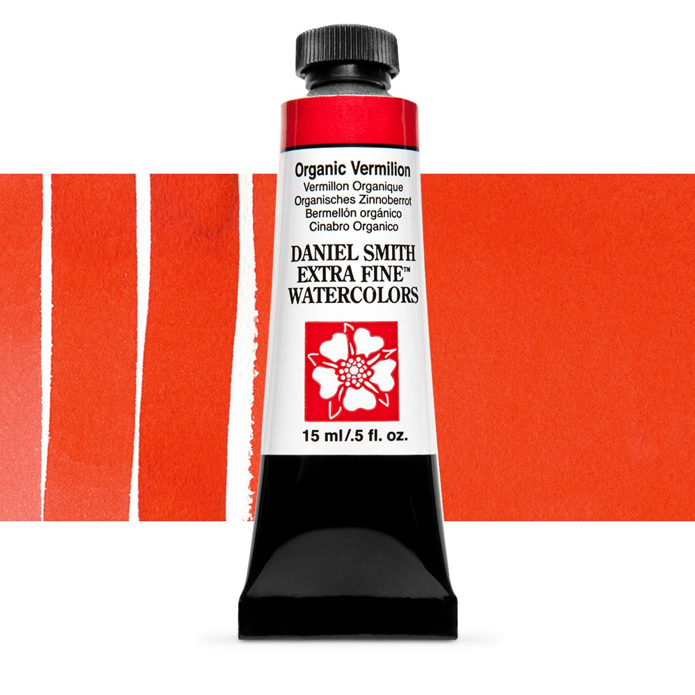 Daniel Smith : Watercolour Paint : 15ml : Organic Vermilion : Series 2