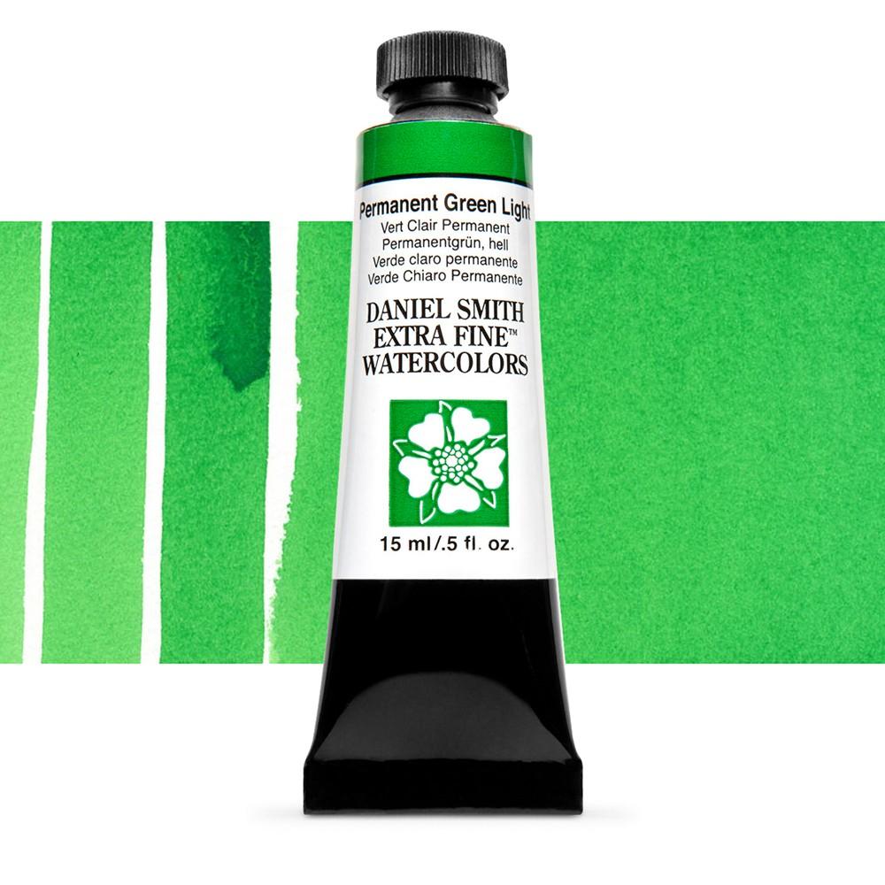 Daniel Smith : Watercolour Paint : 15ml : Permanent Green Light : Series 1