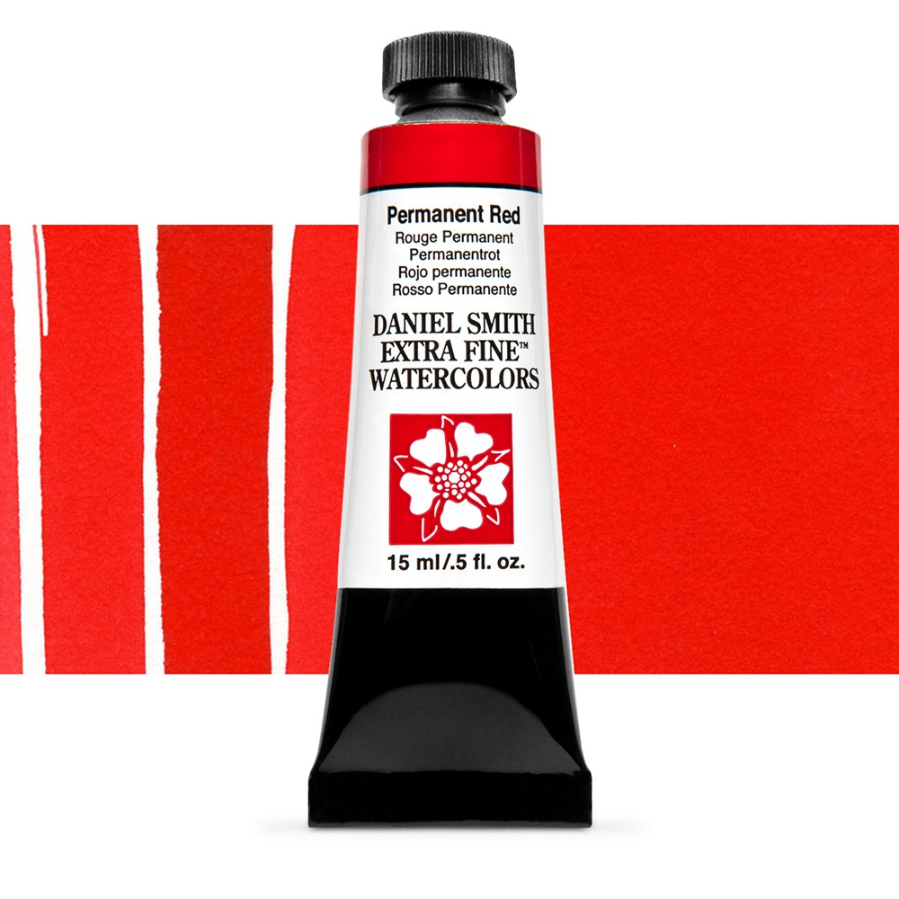 Daniel Smith : Watercolour Paint : 15ml : Permanent Red : Series 1