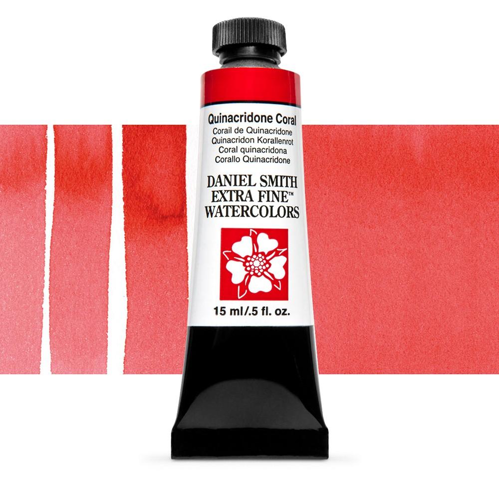 Daniel Smith : Watercolour Paint : 15ml : Quinacridone Coral : Series 2
