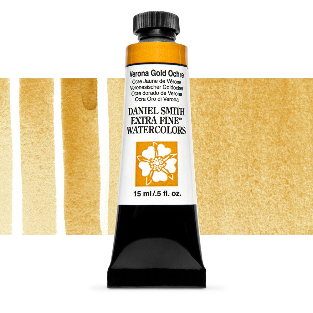Daniel Smith : Watercolour Paint : 15ml : Verona Gold Ochre : Series 1