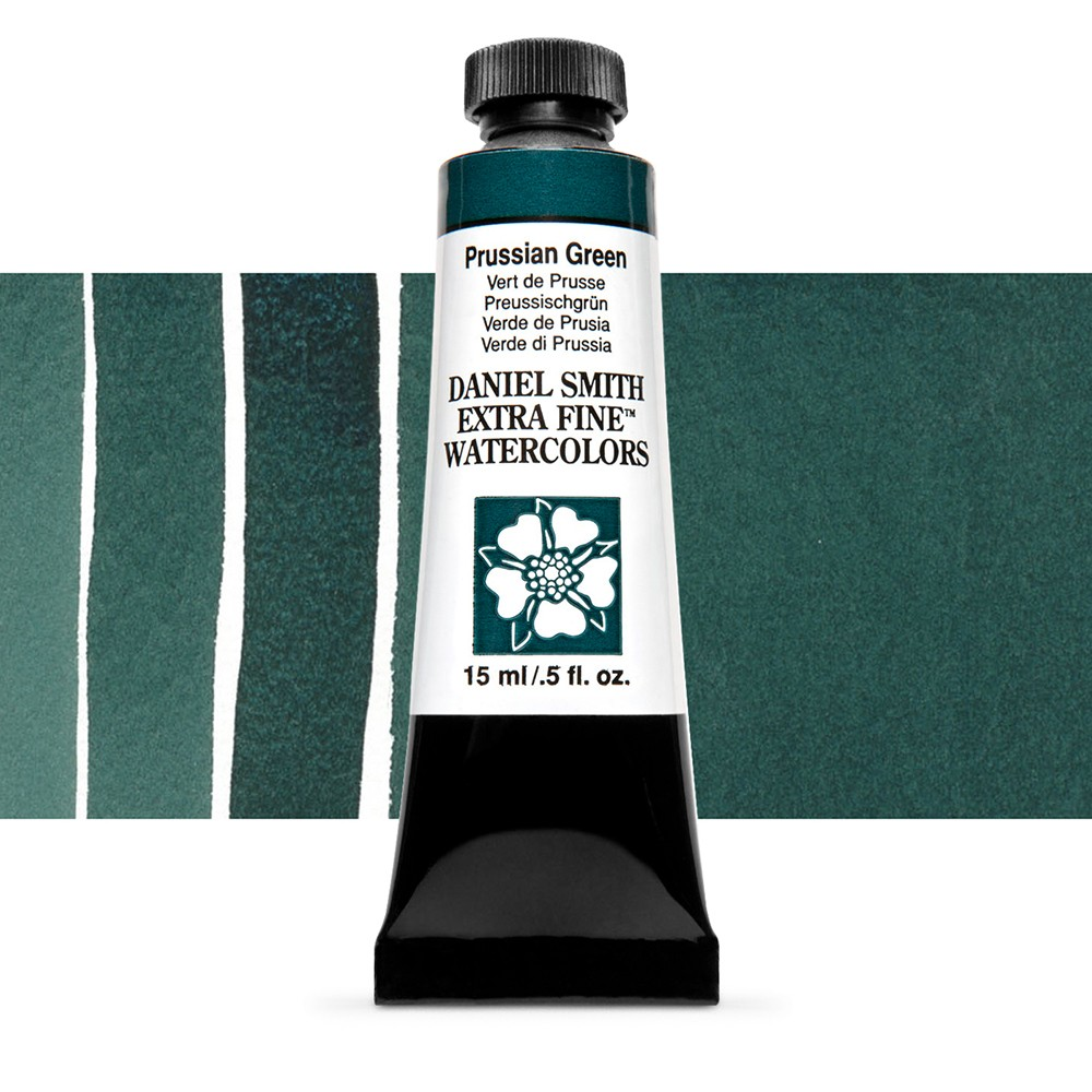 Daniel Smith : Watercolour Paint : 15ml : Prussian Green : Series 1