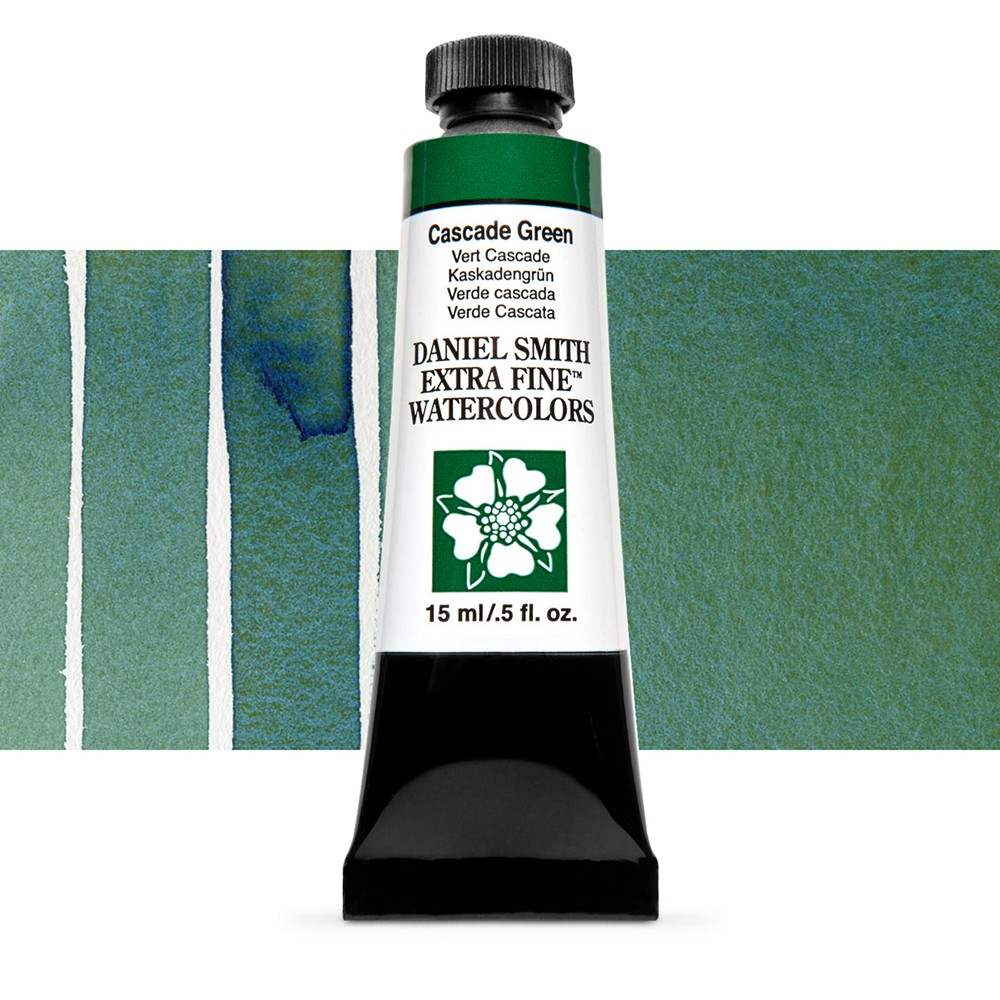 Daniel Smith : Watercolour Paint : 15ml : Cascade Green : Series 1