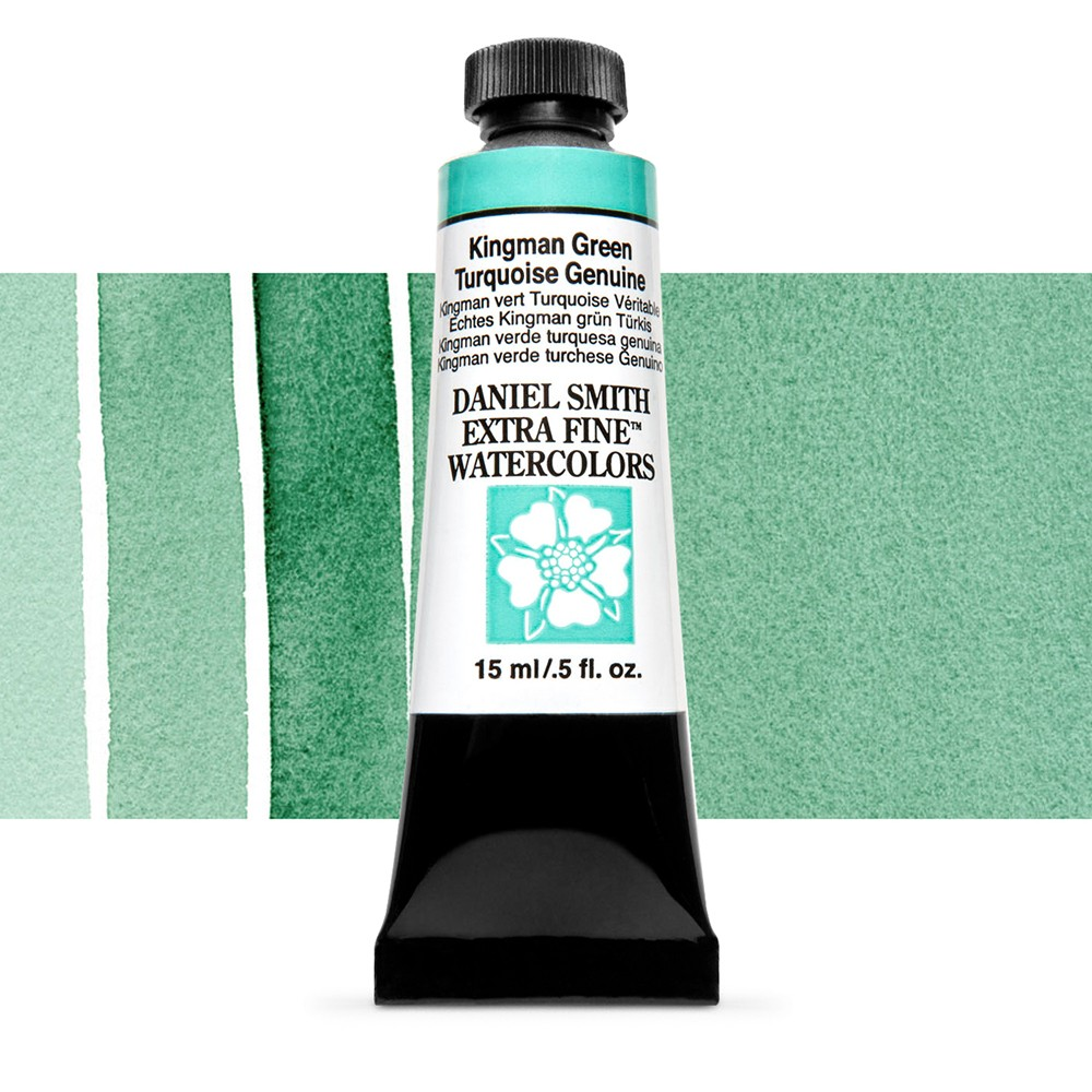 Daniel Smith : Watercolour Paint : 15ml : Kingman Green Turquoise Gen : Series 5