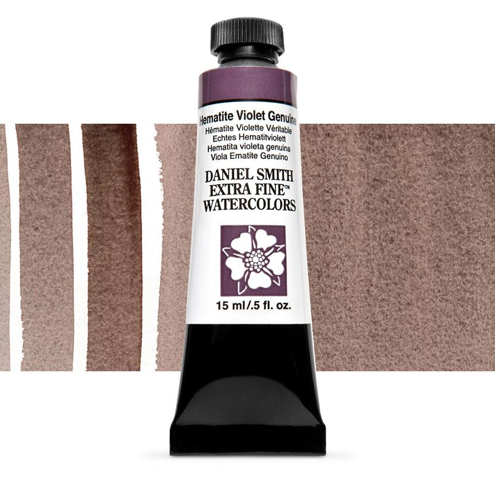 Daniel Smith : Primatek Watercolour Paint : 15ml : Hematite Violet Genuine : b Series 3