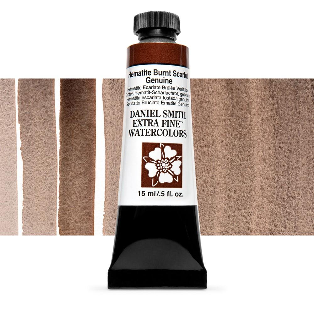 Daniel Smith : Watercolour Paint : 15ml : Hematite Burnt Scarlet Gen. : b Series 3