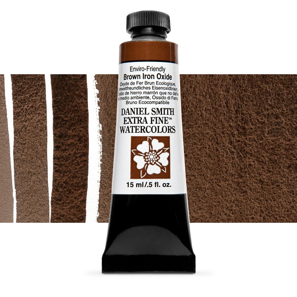 Daniel Smith : Watercolour Paint : 15ml : Enviro-friendly Brown Iron Oxide : Series 2