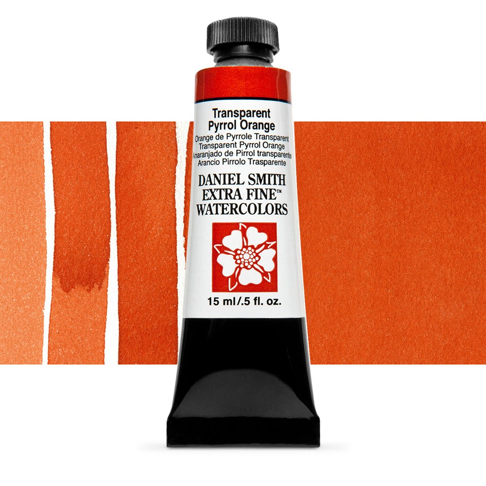 Daniel Smith : Watercolour Paint : 15ml : Transparent Pyrrol Orange : Series 2