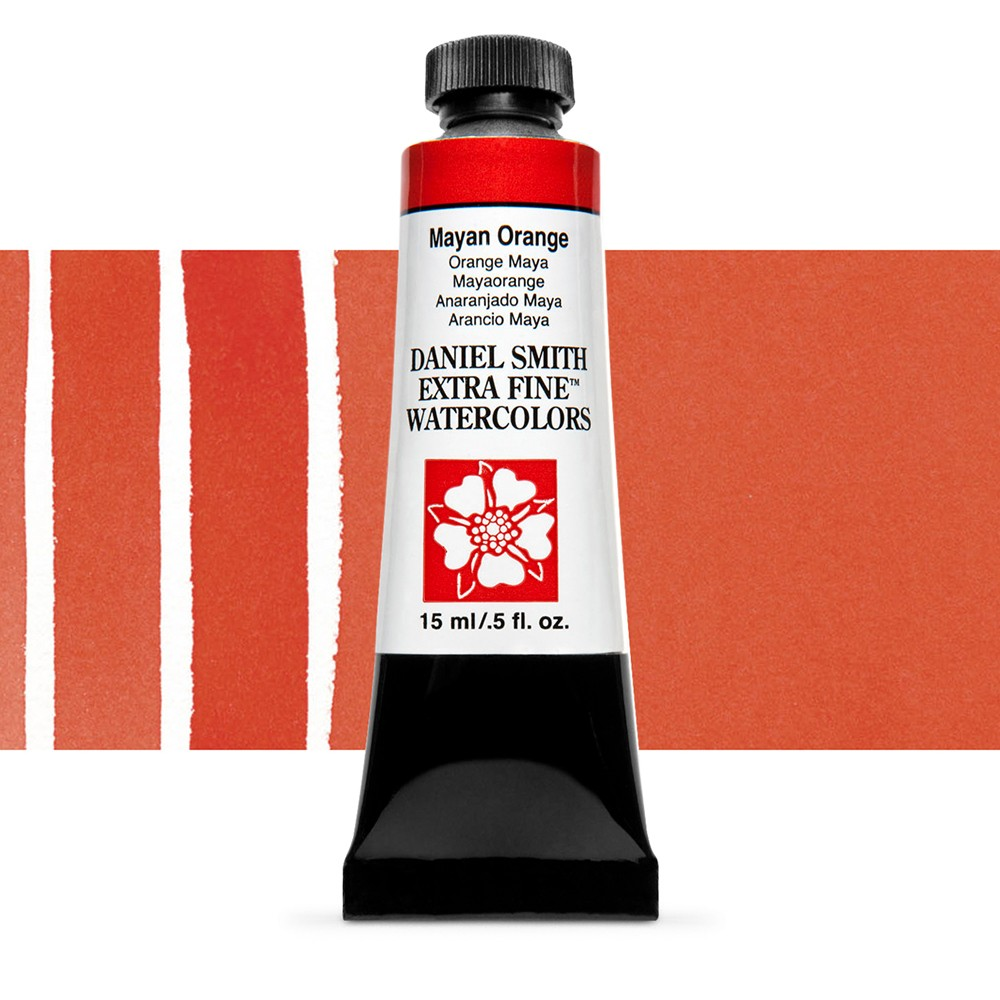 Daniel Smith : Watercolour Paint : 15ml : Mayan Orange : Series 3