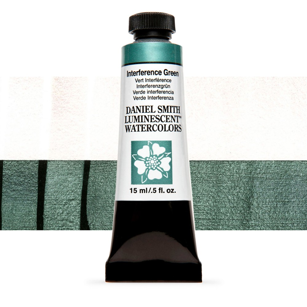 Daniel Smith : Luminescent Watercolour Paint : 15ml : Interference Green : Series 1