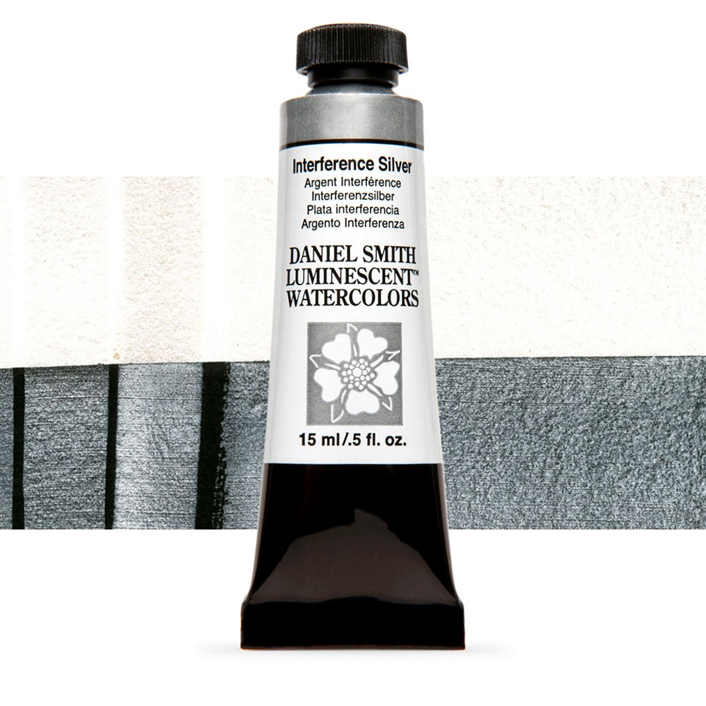 Daniel Smith : Watercolour Paint : 15ml : Interference Silver : u Series 1