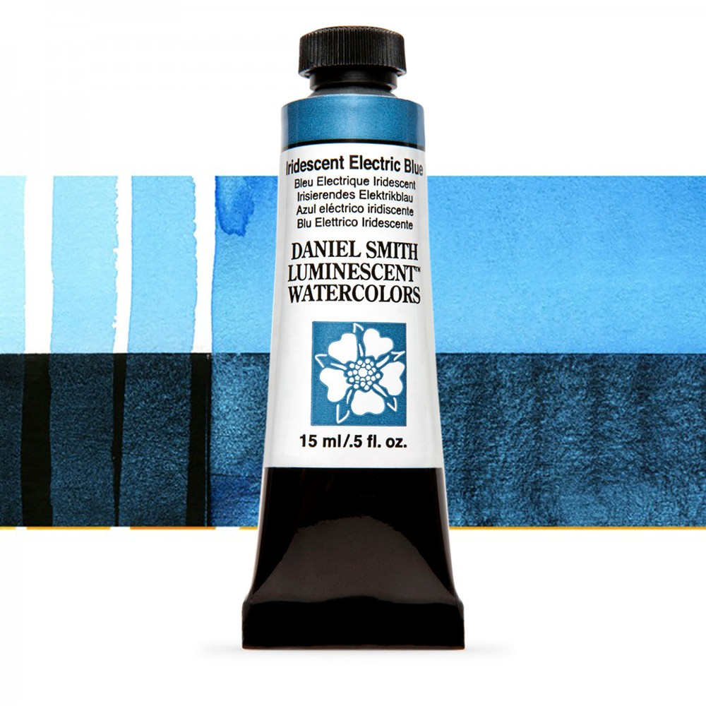 Daniel Smith : Watercolour Paint : 15ml : Iridescent Electric Blue : u Series 1