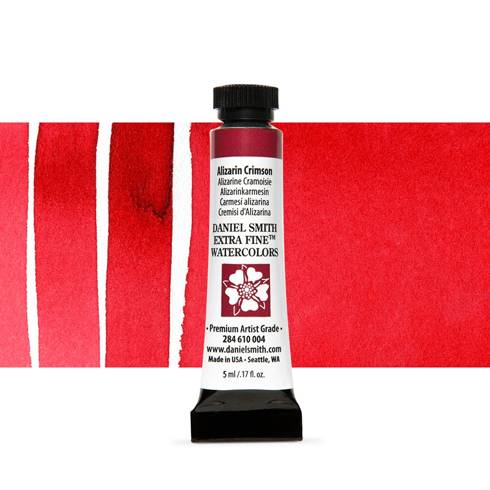 Daniel Smith : Watercolour Paint : 5ml : Alizarin Crimson