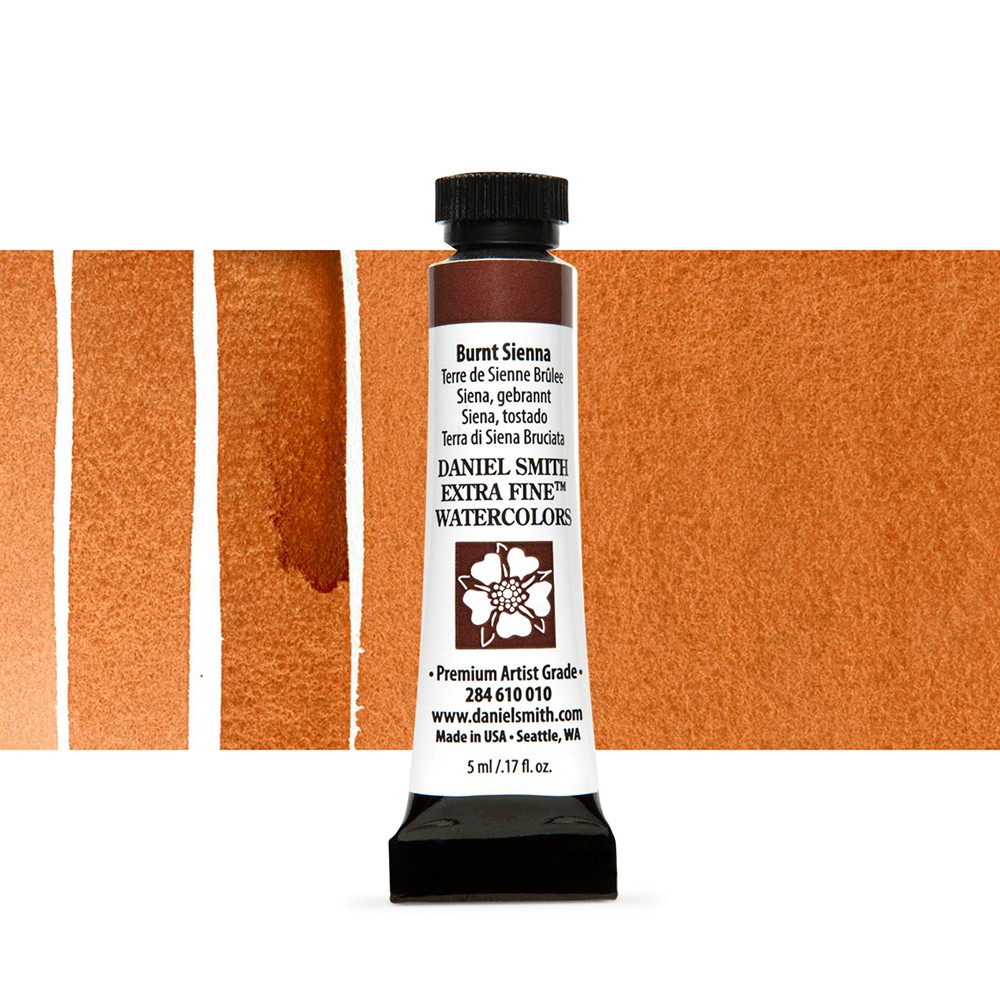 Daniel Smith : Watercolour Paint : 5ml : Burnt Sienna