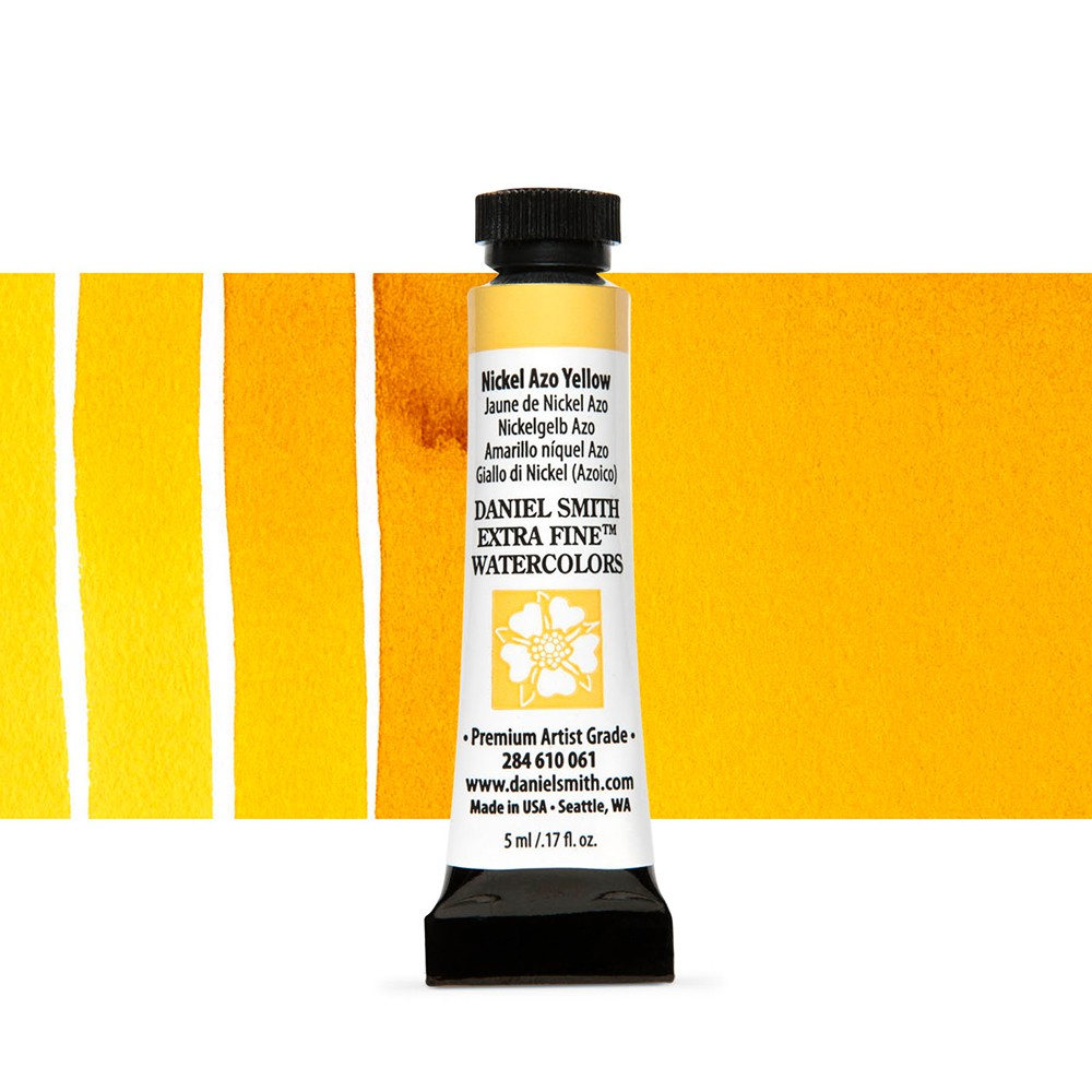 Daniel Smith : Watercolour Paint : 5ml : Nickel Azo Yellow