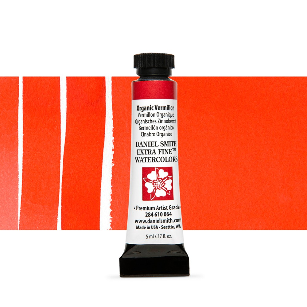 Daniel Smith : Watercolour Paint : 5ml : Organic Vermilion