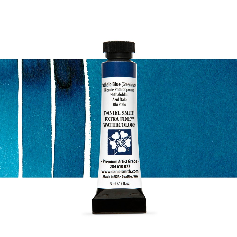 Daniel Smith : Watercolour Paint : 5ml : Phthalo Blue (Green Shade)