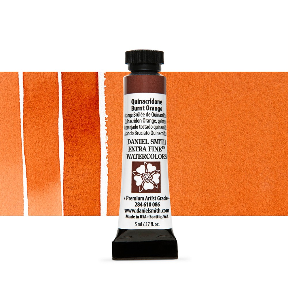 Daniel Smith : Watercolour Paint : 5ml : Quinacridone Burnt Orange