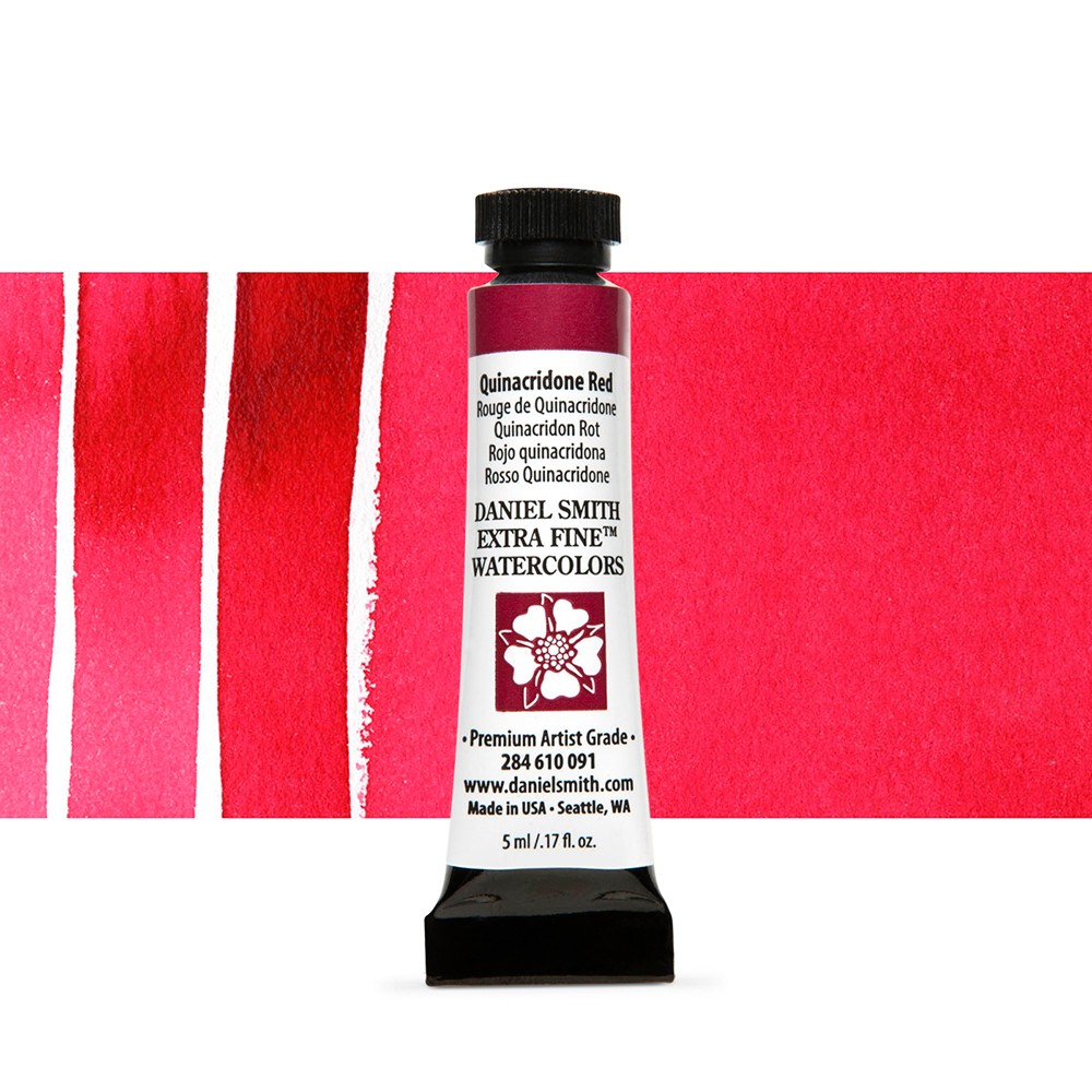 Daniel Smith : Watercolour Paint : 5ml : Quinacridone Red