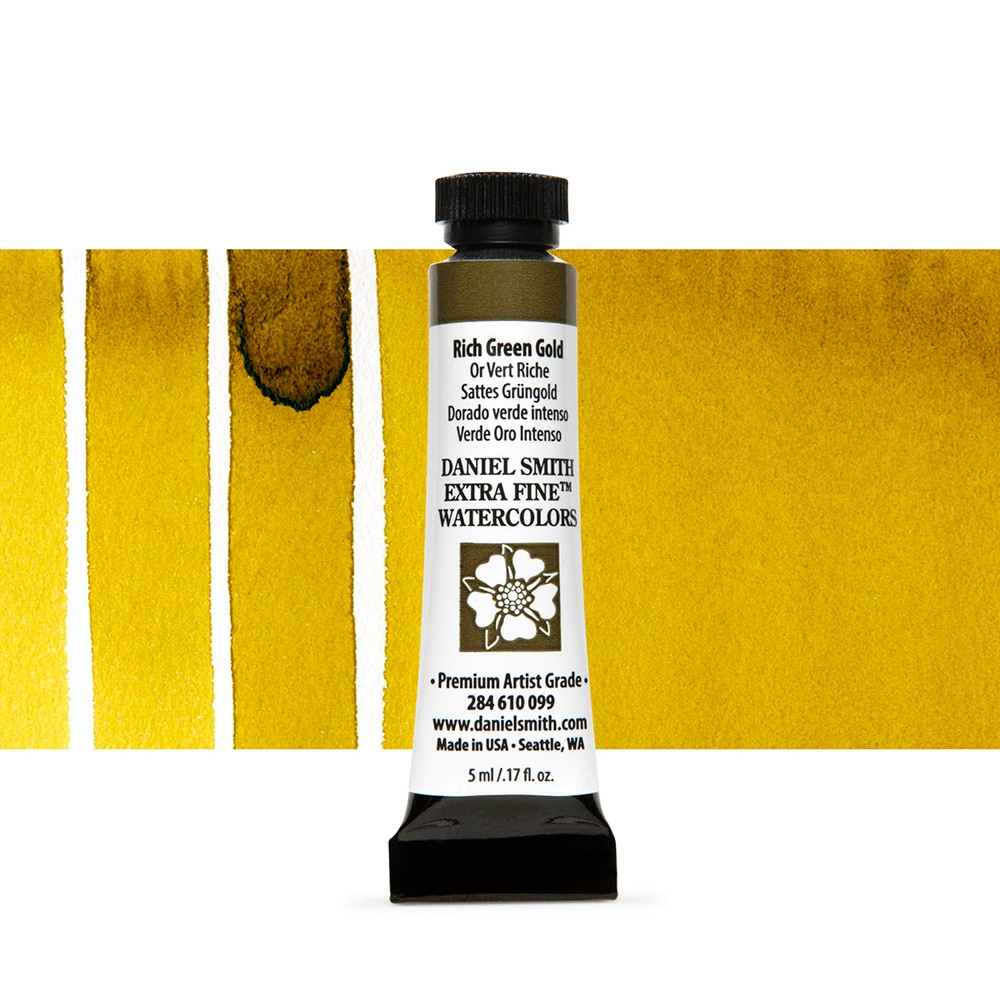 Daniel Smith : Watercolour Paint : 5ml : Rich Green Gold