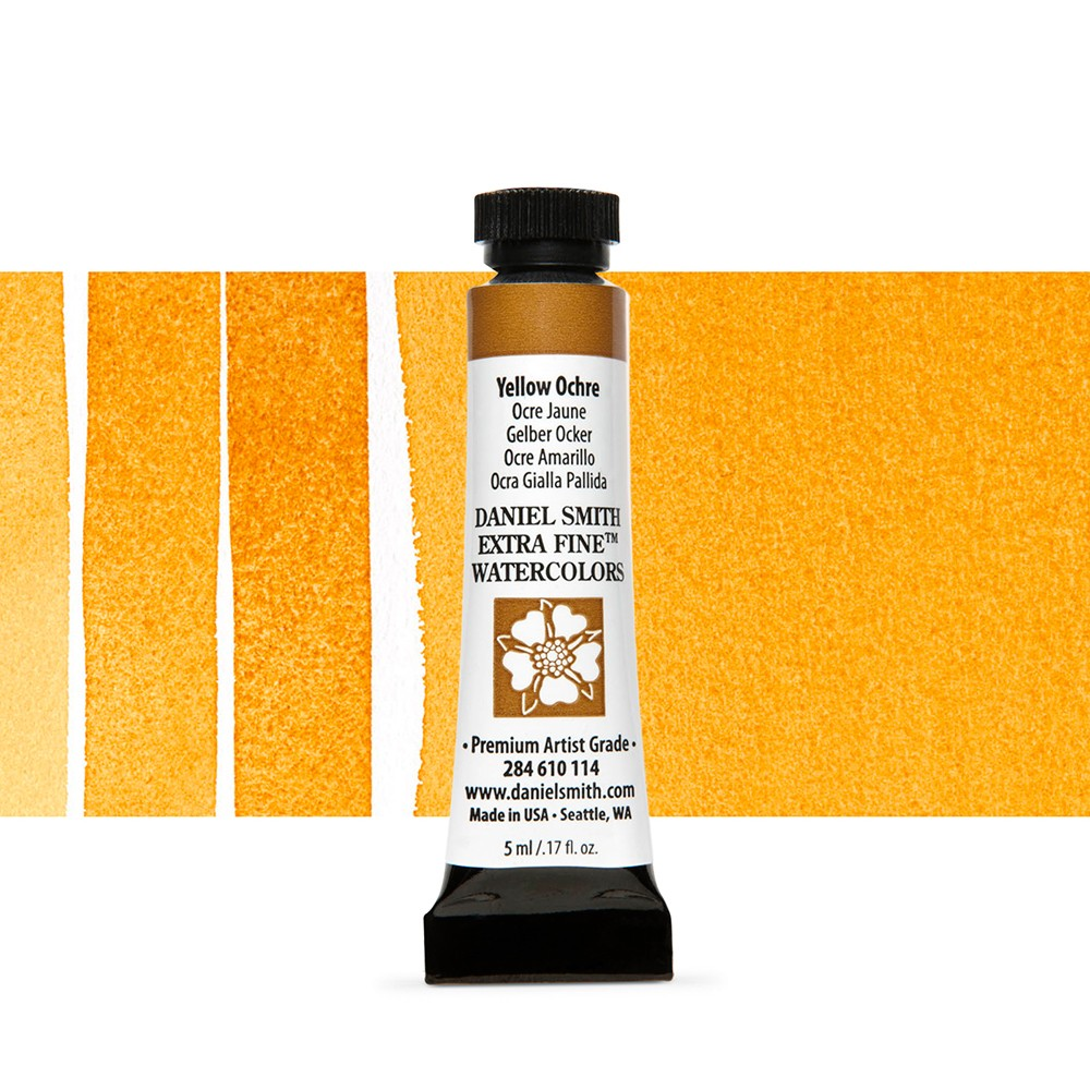 Daniel Smith : Watercolour Paint : 5ml : Yellow Ochre