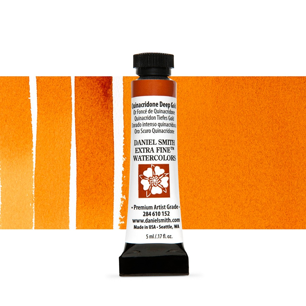Daniel Smith : Watercolour Paint : 5ml : Quinacridone Deep Gold
