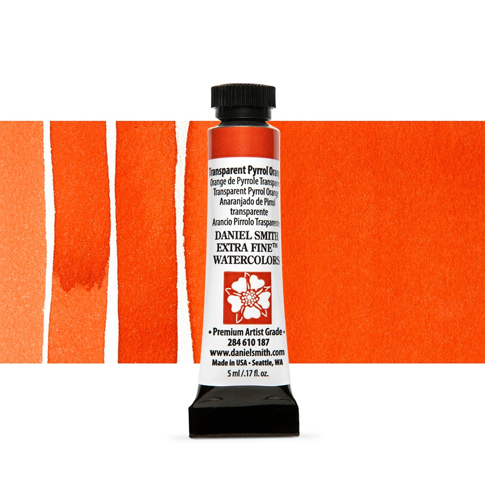 Daniel Smith : Watercolour Paint : 5ml : Transparent Pyrrol Orange