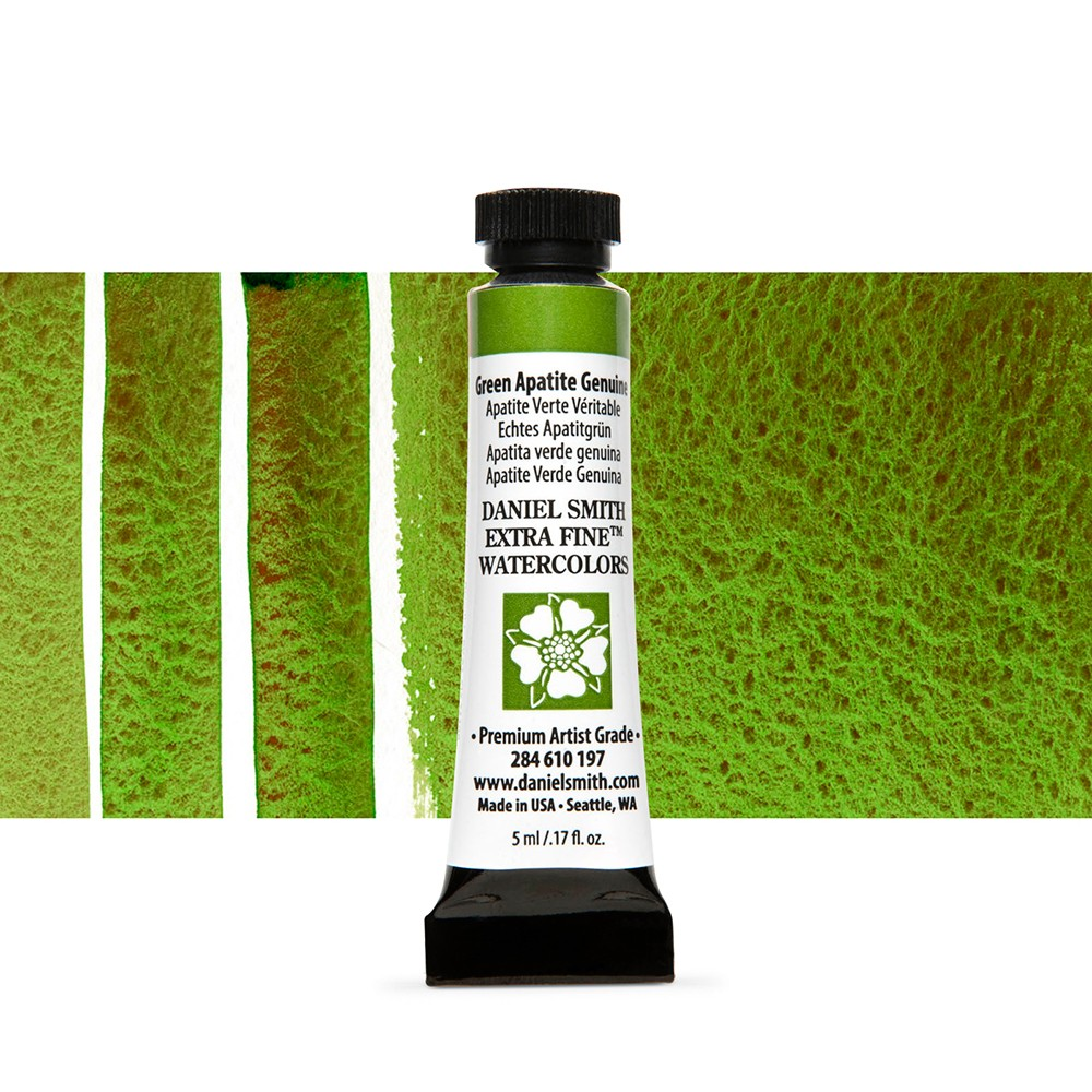 Daniel Smith : Watercolour Paint : 5ml : Green Apatite Genuine