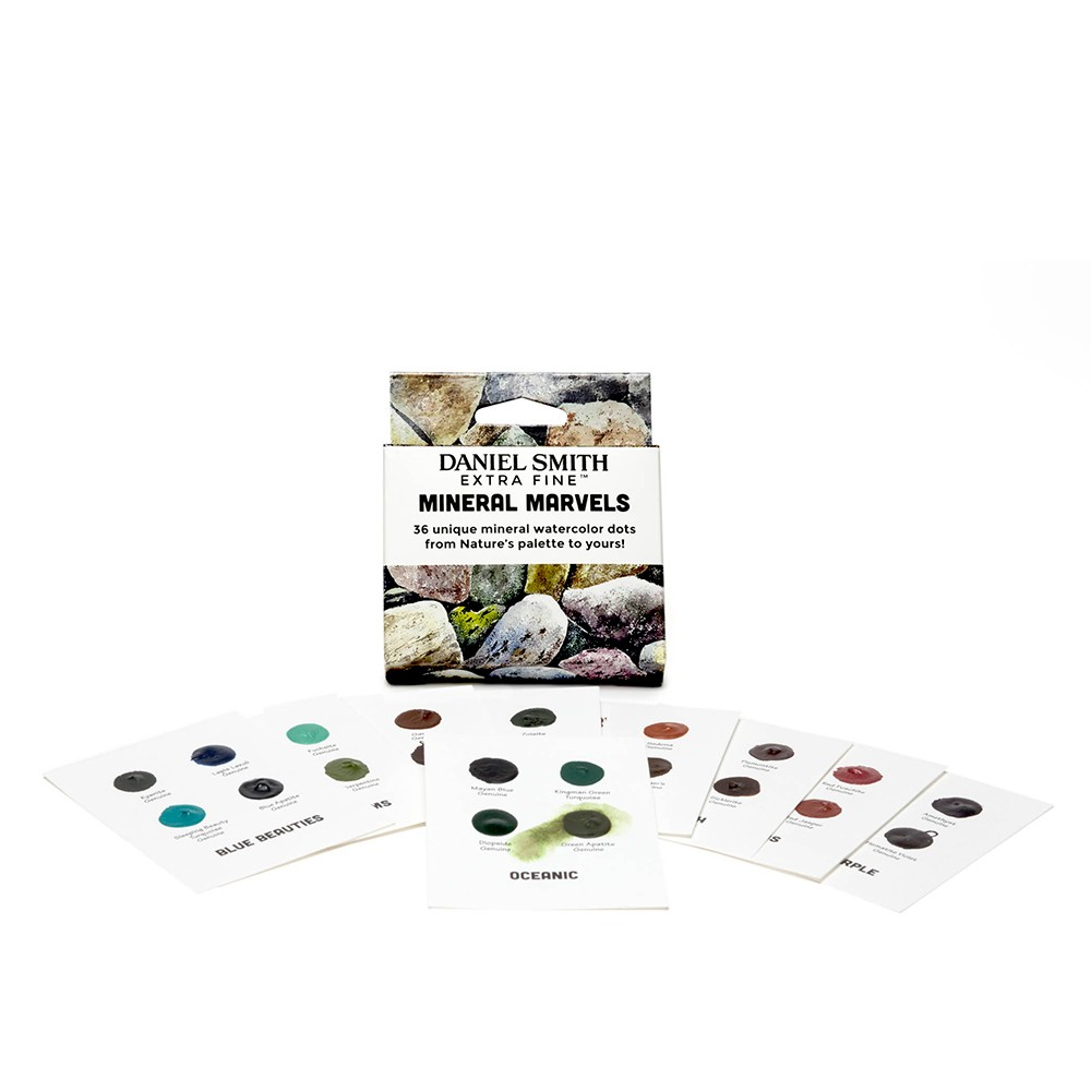 Daniel Smith : Watercolour Dot Card : 36 Mineral Marvels Colours