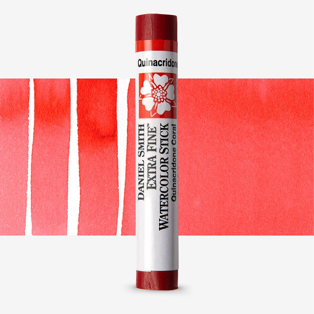 Daniel Smith : Watercolour Paint Sticks : Quinacridone Coral
