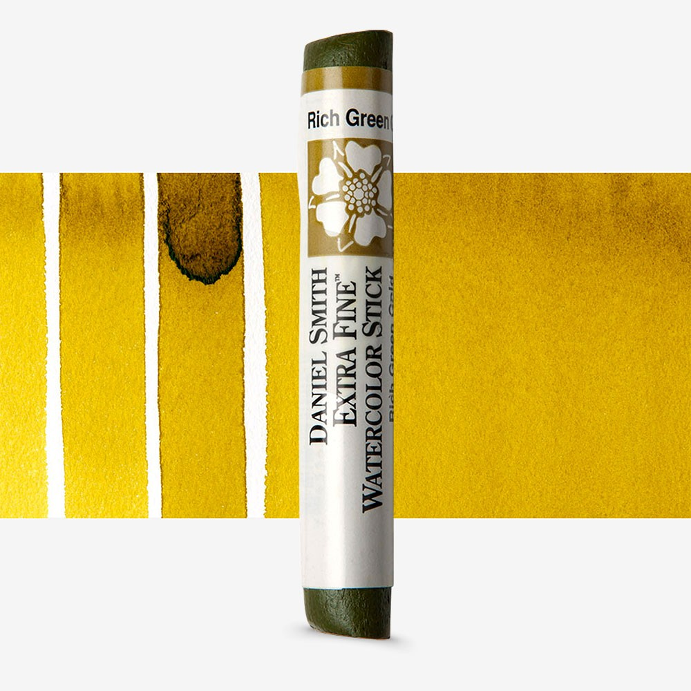 Daniel Smith : Watercolour Paint Sticks : Rich Green Gold