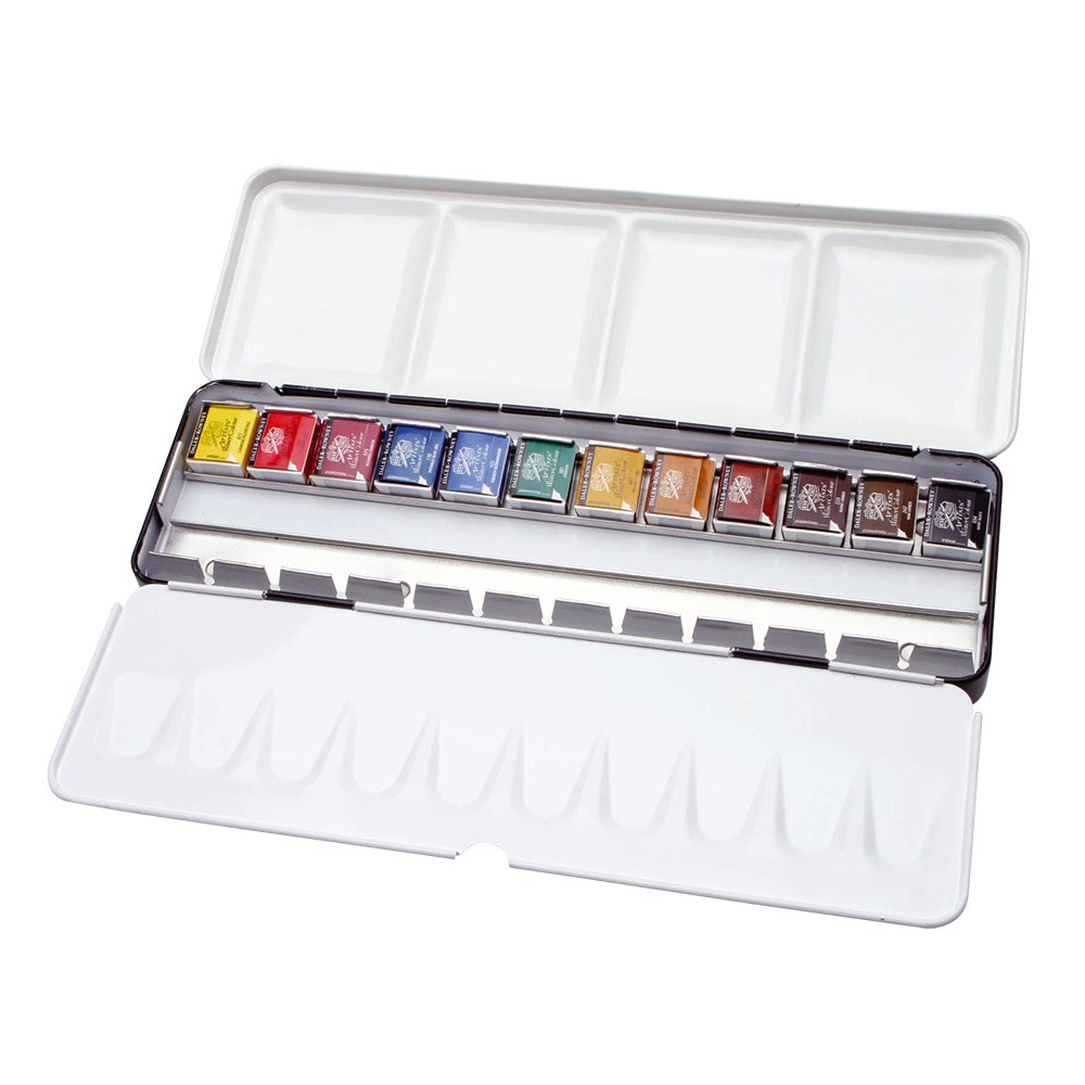 Daler Rowney : Artists' Watercolour Paint : Set : Half Pan : Set Of 12