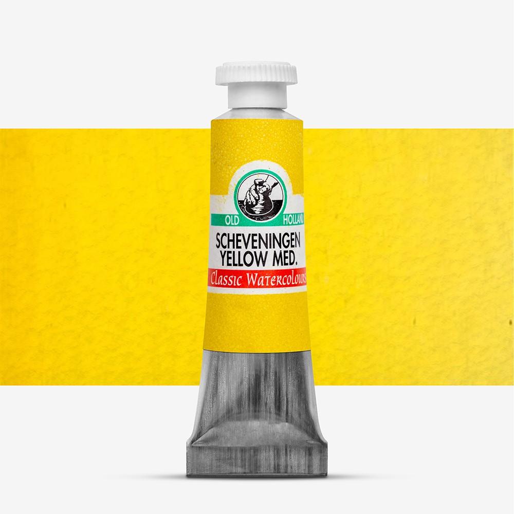 Old Holland : Watercolour Paint : 6ml : Scheveningen Yellow Medium