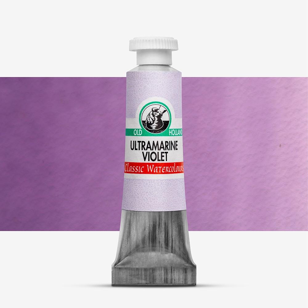 Old Holland : Watercolour Paint : 6ml : Ultramarine Violet