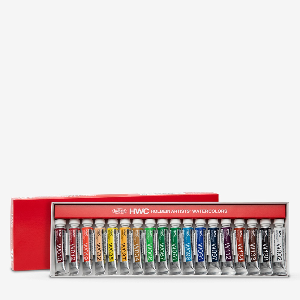 Holbein Watercolour : Set of 5ml Tubes x 18 (W403)