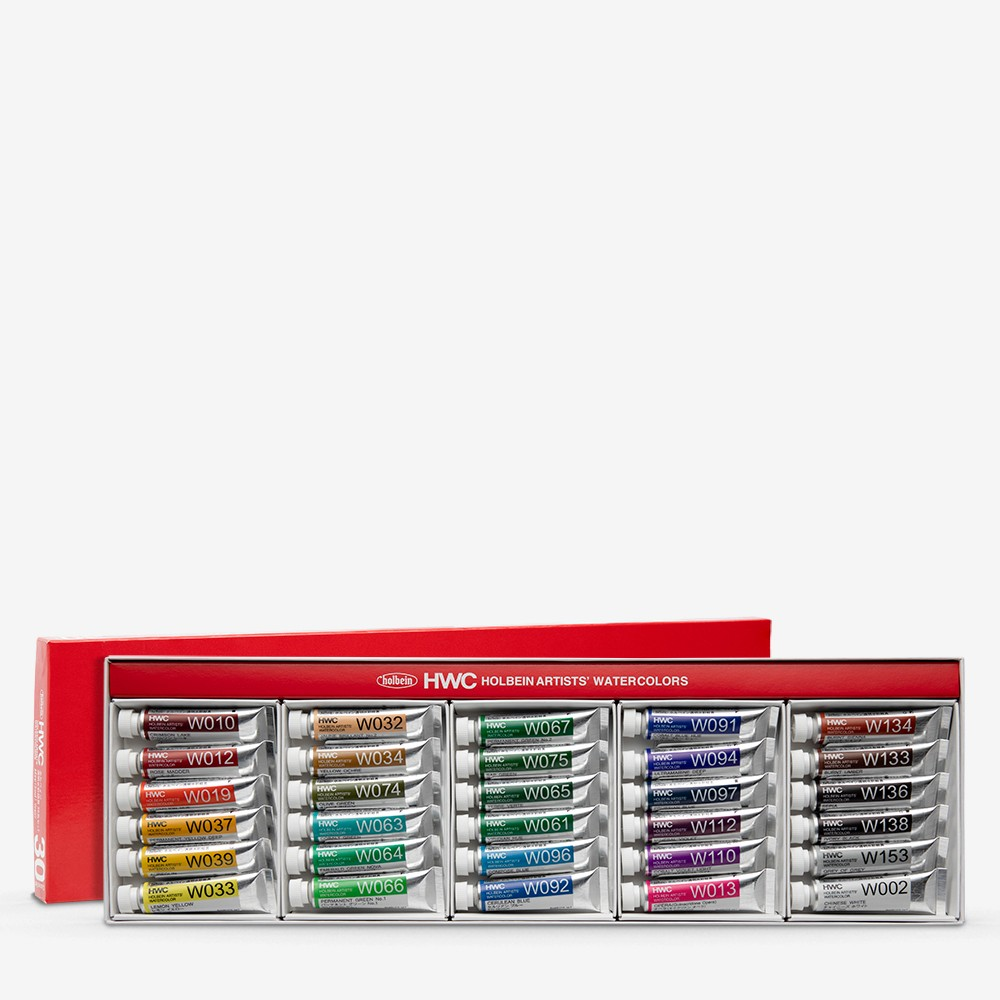 Holbein Watercolour Paint : Set Of 5ml : Tubes x 30 (W407)
