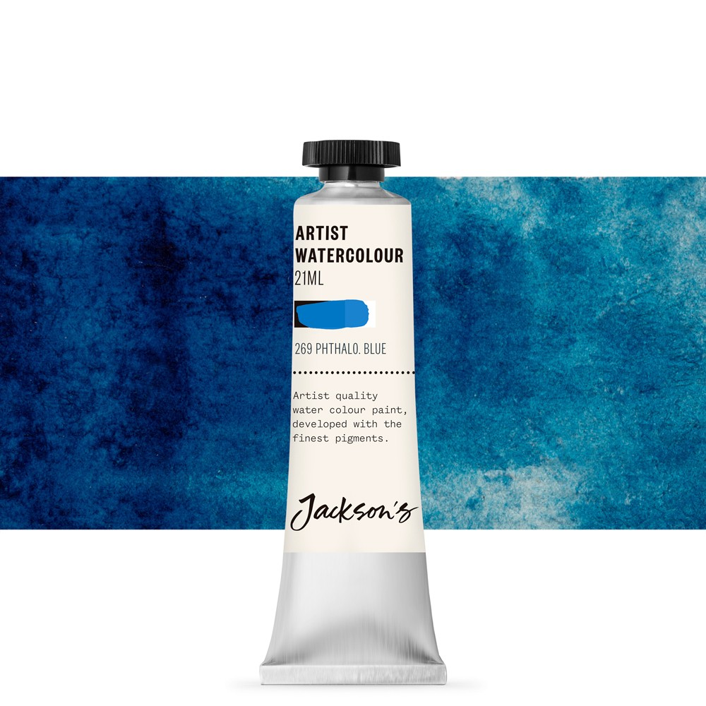 Jackson's : Artist Watercolour Paint : 21ml : Phthalocyanine Blue