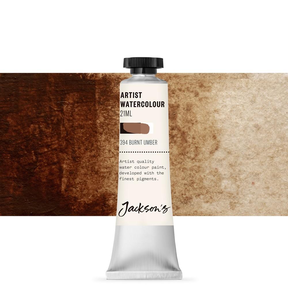 Jackson's : Artist Watercolour Paint : 21ml : Burnt Umber
