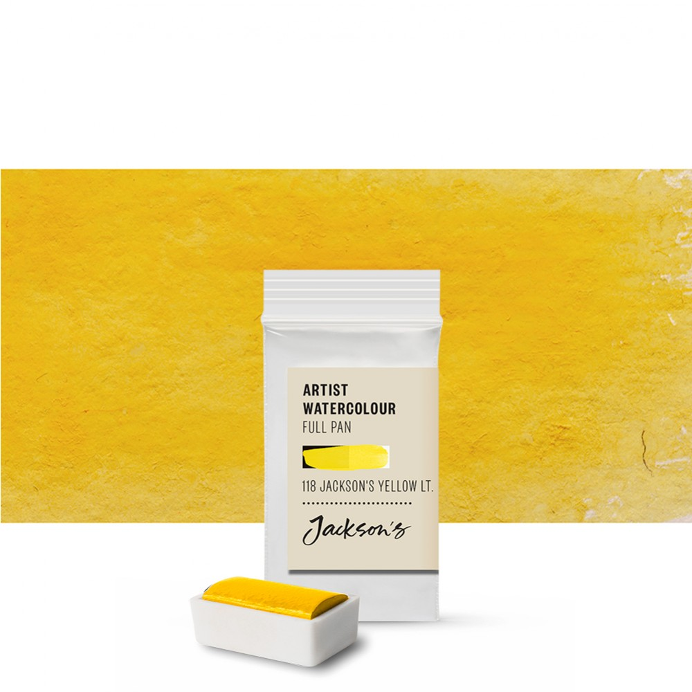 Jackson's : Artist Watercolour Paint : Full Pan : Jackson's Yellow Light