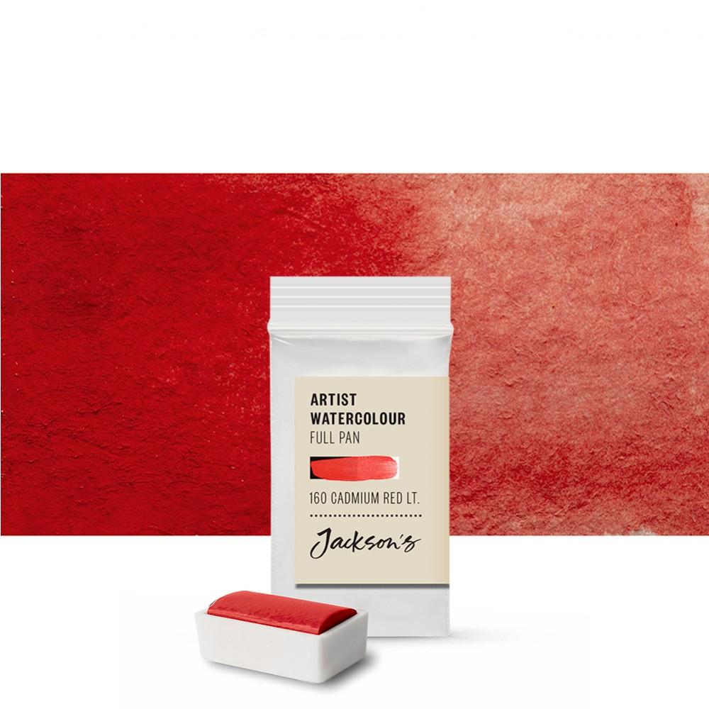 Jackson's : Artist Watercolour Paint : Full Pan : Cadmium Red Light