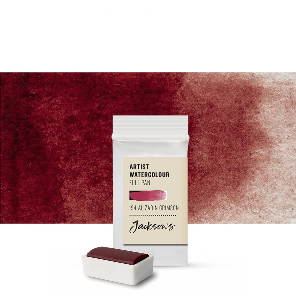 Jackson's : Artist Watercolour Paint : Full Pan : Alizarin Crimson