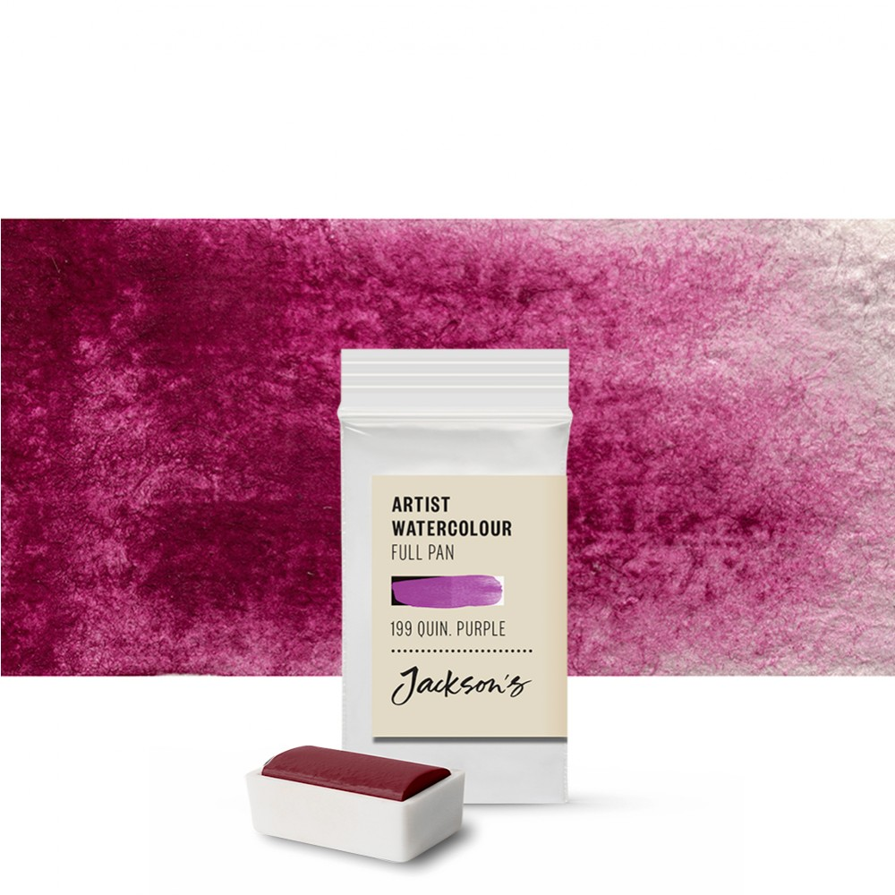 Jackson's : Artist Watercolour Paint : Full Pan : Quinacridone Purple