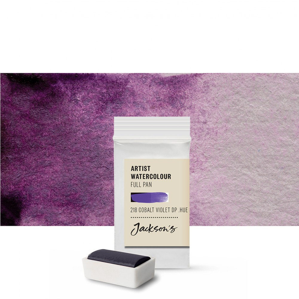 Jackson's : Artist Watercolour Paint : Full Pan : Cobalt Violet Deep Hue