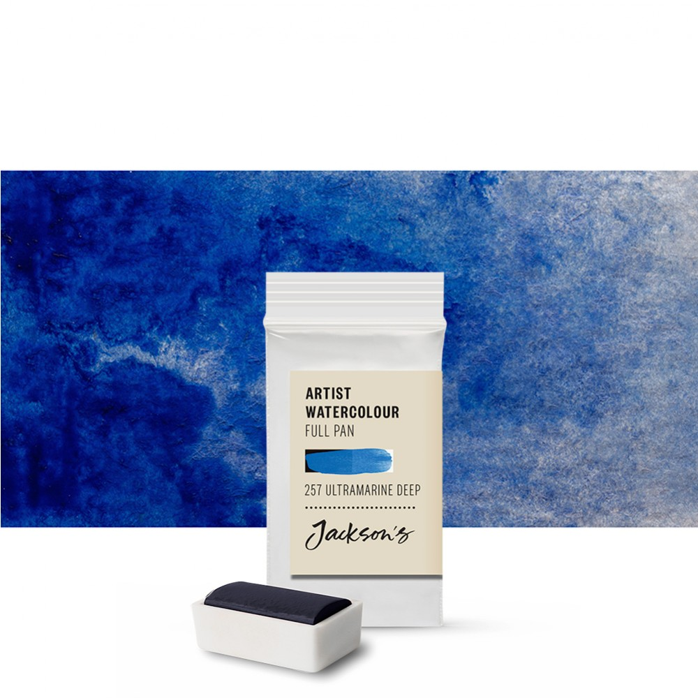 Jackson's : Artist Watercolour Paint : Full Pan : Ultramarine Deep