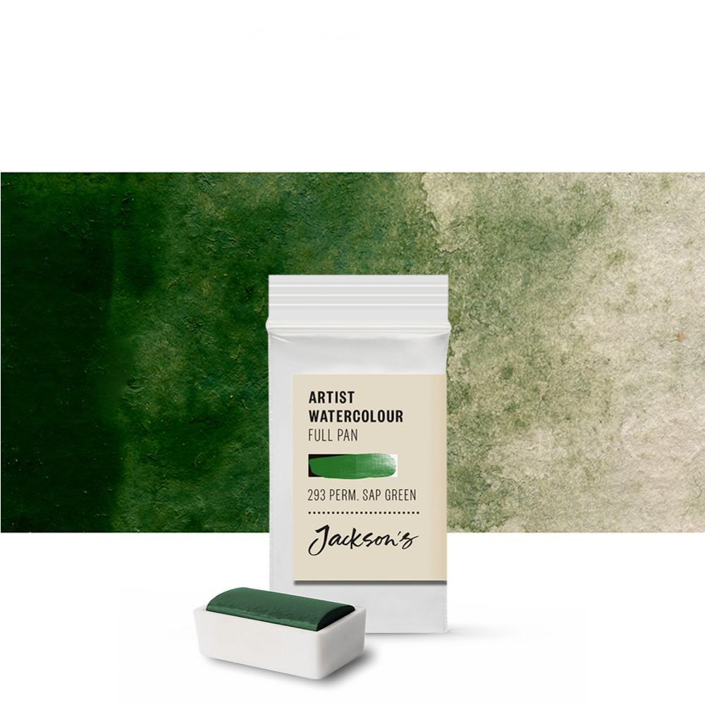 Jackson's : Artist Watercolour Paint : Full Pan : Permanent Sap Green
