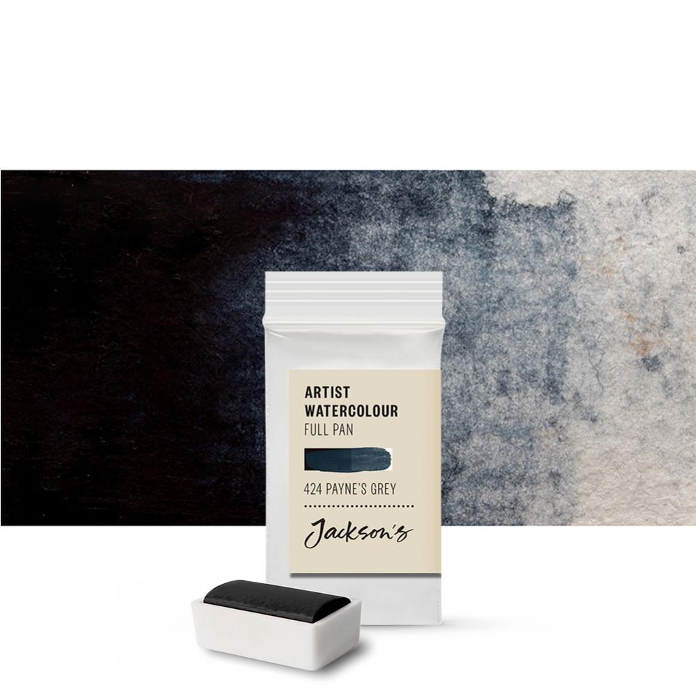 Jackson's : Artist Watercolour Paint : Full Pan : Paynes Grey