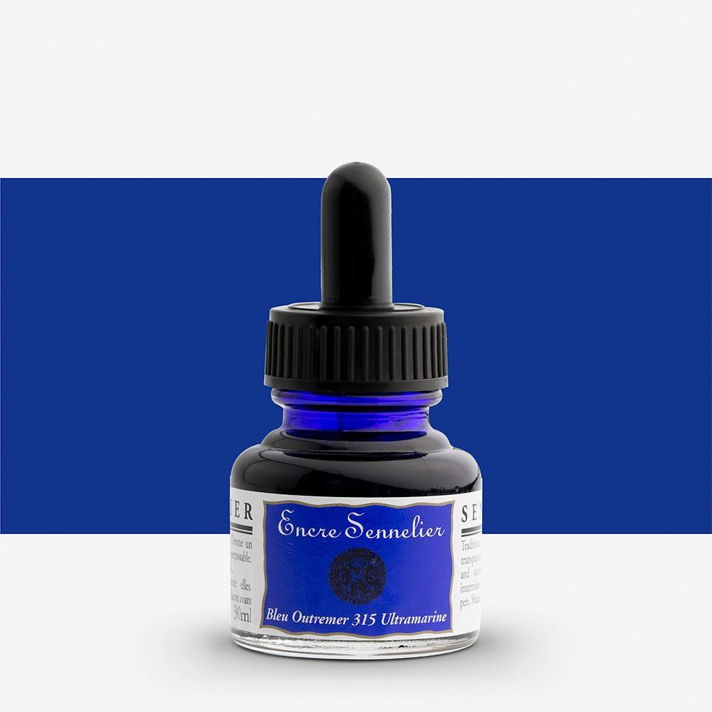 Sennelier : Ink : 30ml : Ultramarine blue